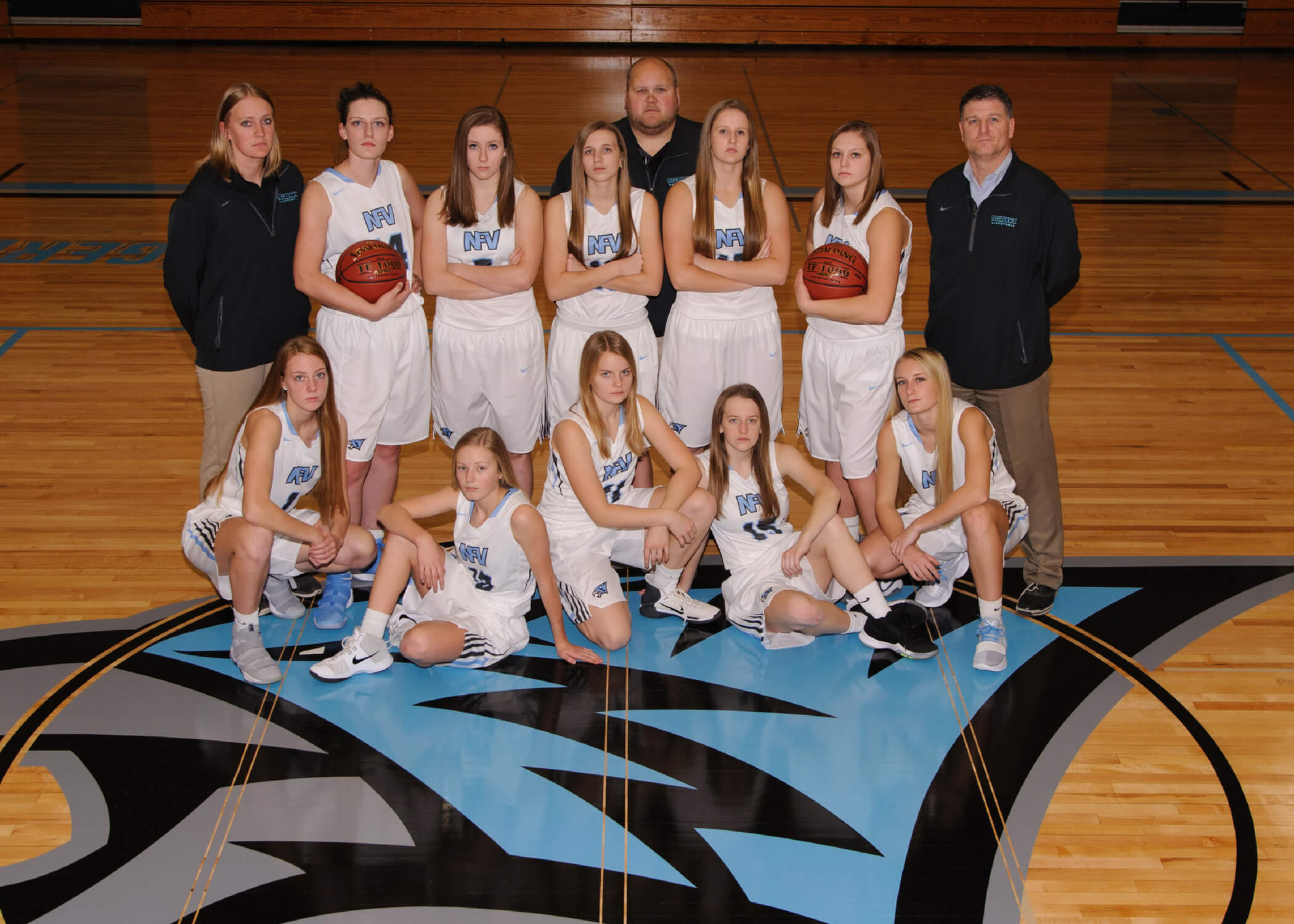 NFV High School Girls Basketball 2018 Varsity Team Photograph