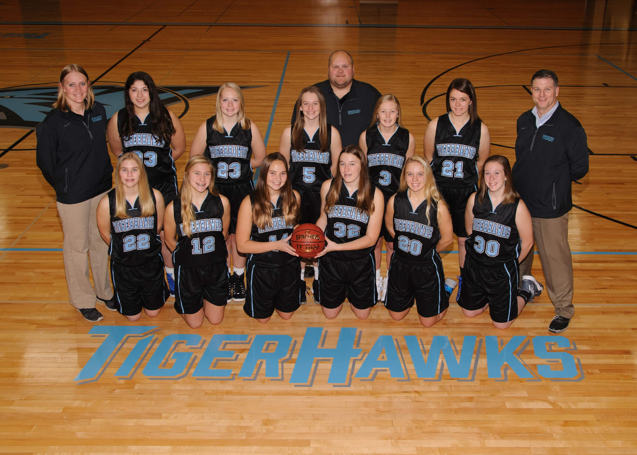 NFV High School Girls Basketball 2018 Junior Varsity Team Photograph