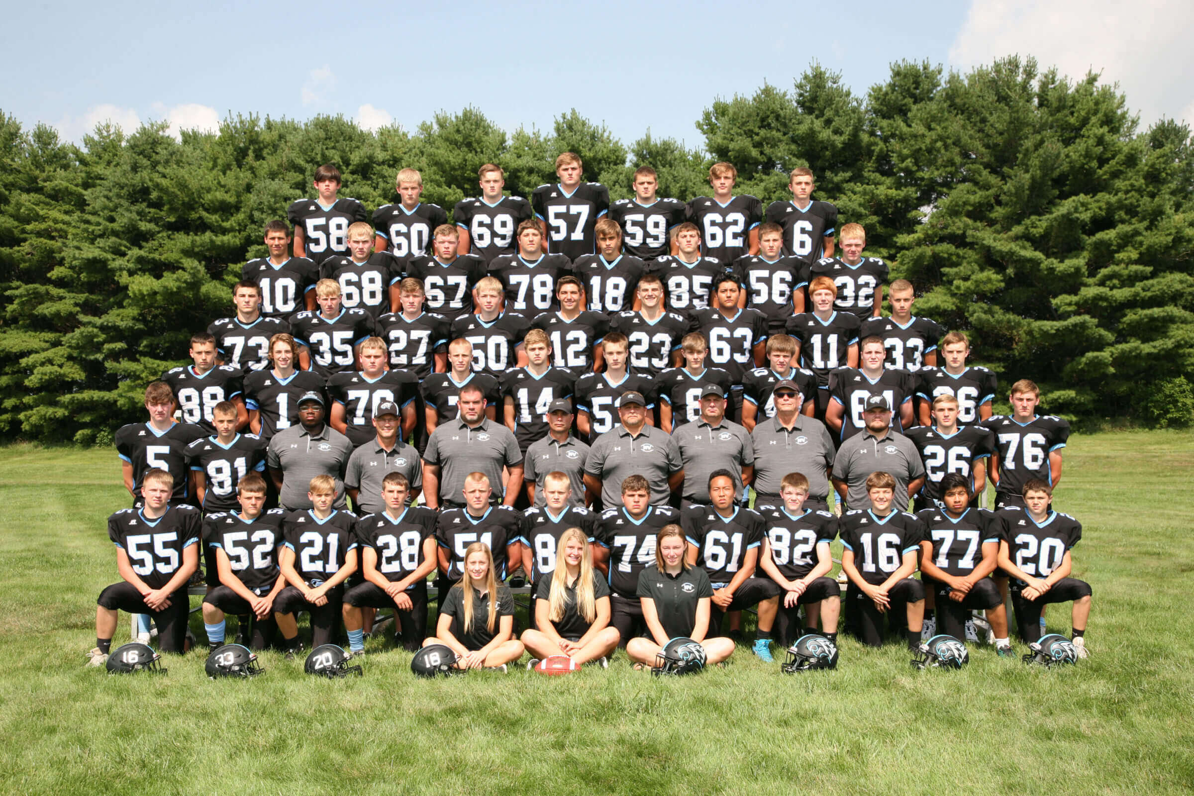 NFV High School Football 2018 Team Photograph