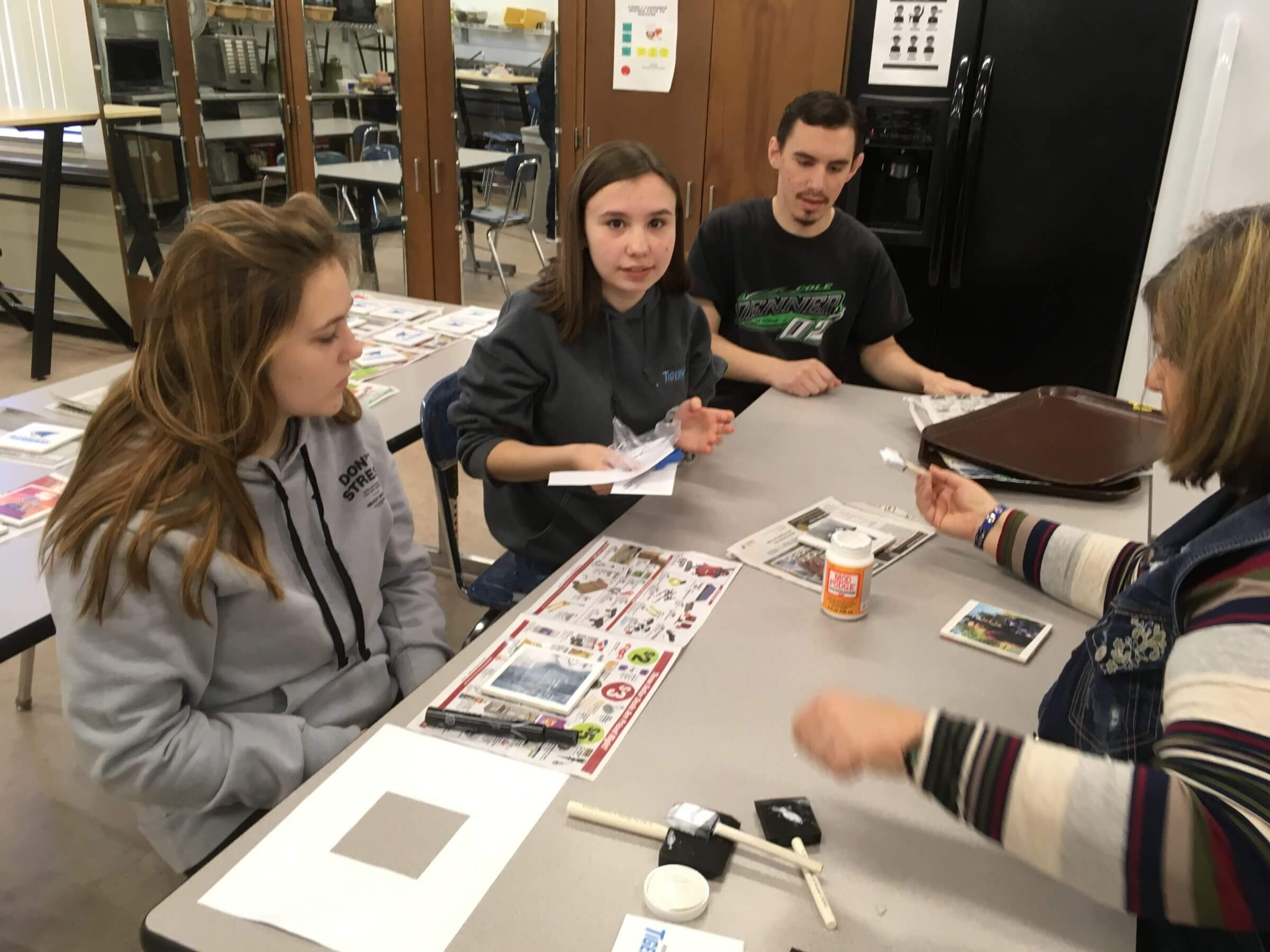 Students participating in recreational activity