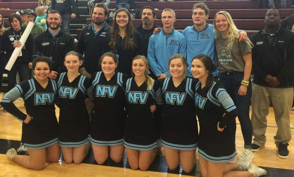NFV 2018-19 Wrestling Qualifiers, Coaches and Cheerleaders