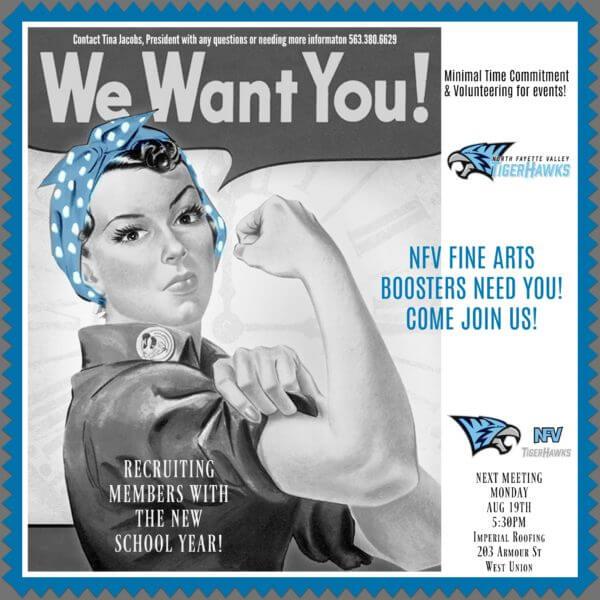 NFV Fine Arts Booster Club Poster