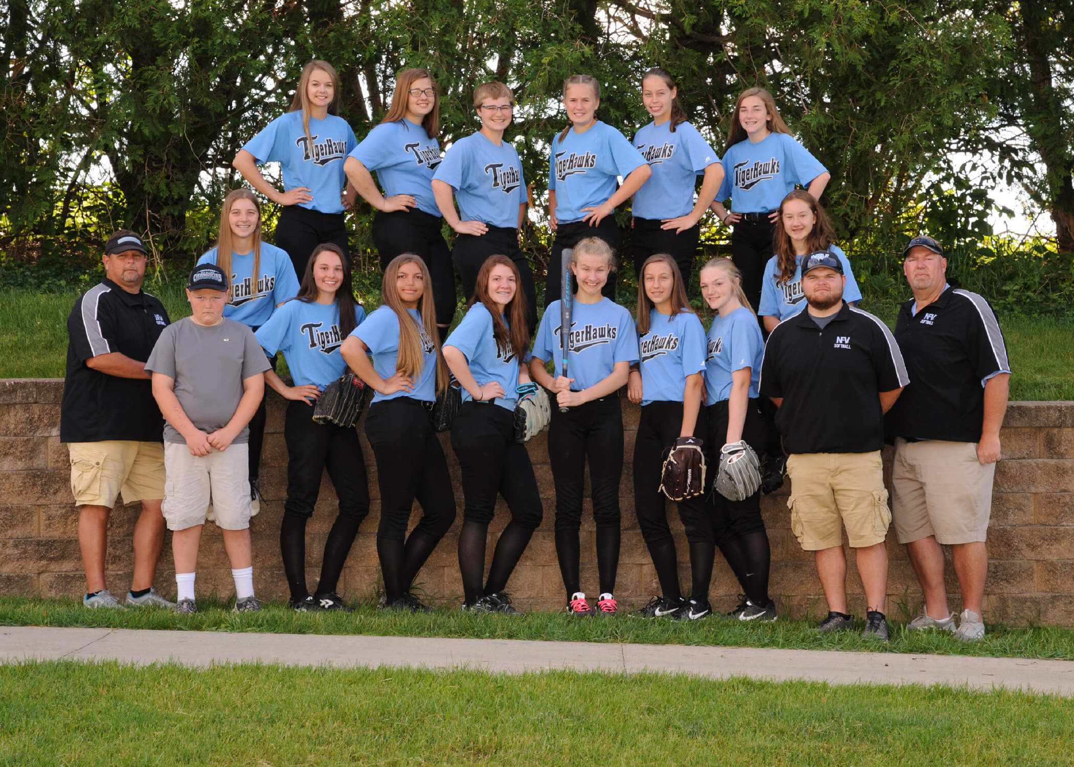 NFV High School Softball 2019 Junior Varsity Team Photograph