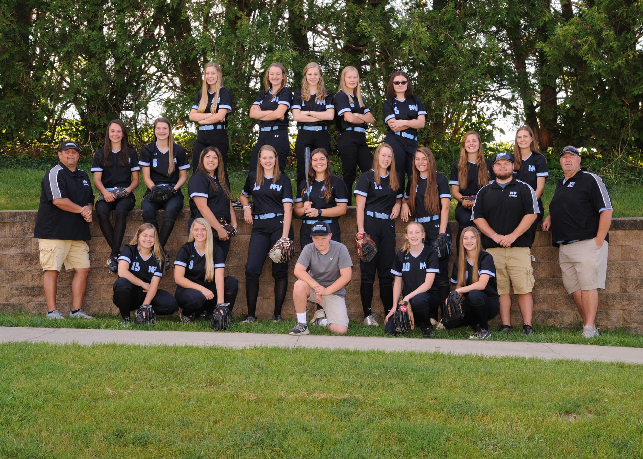 NFV High School Softball 2019 Varsity Team Photograph